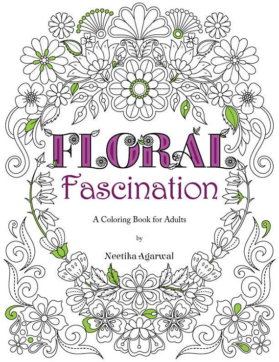 Floral Fascination Adult Coloring Book Flower Coloring, Also avail ...