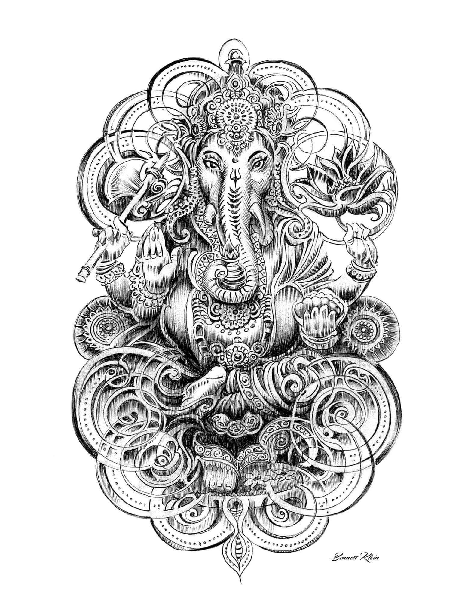 11 ganesha tattoo designs ideas and samples - Tattoo Designs Bennett Klein