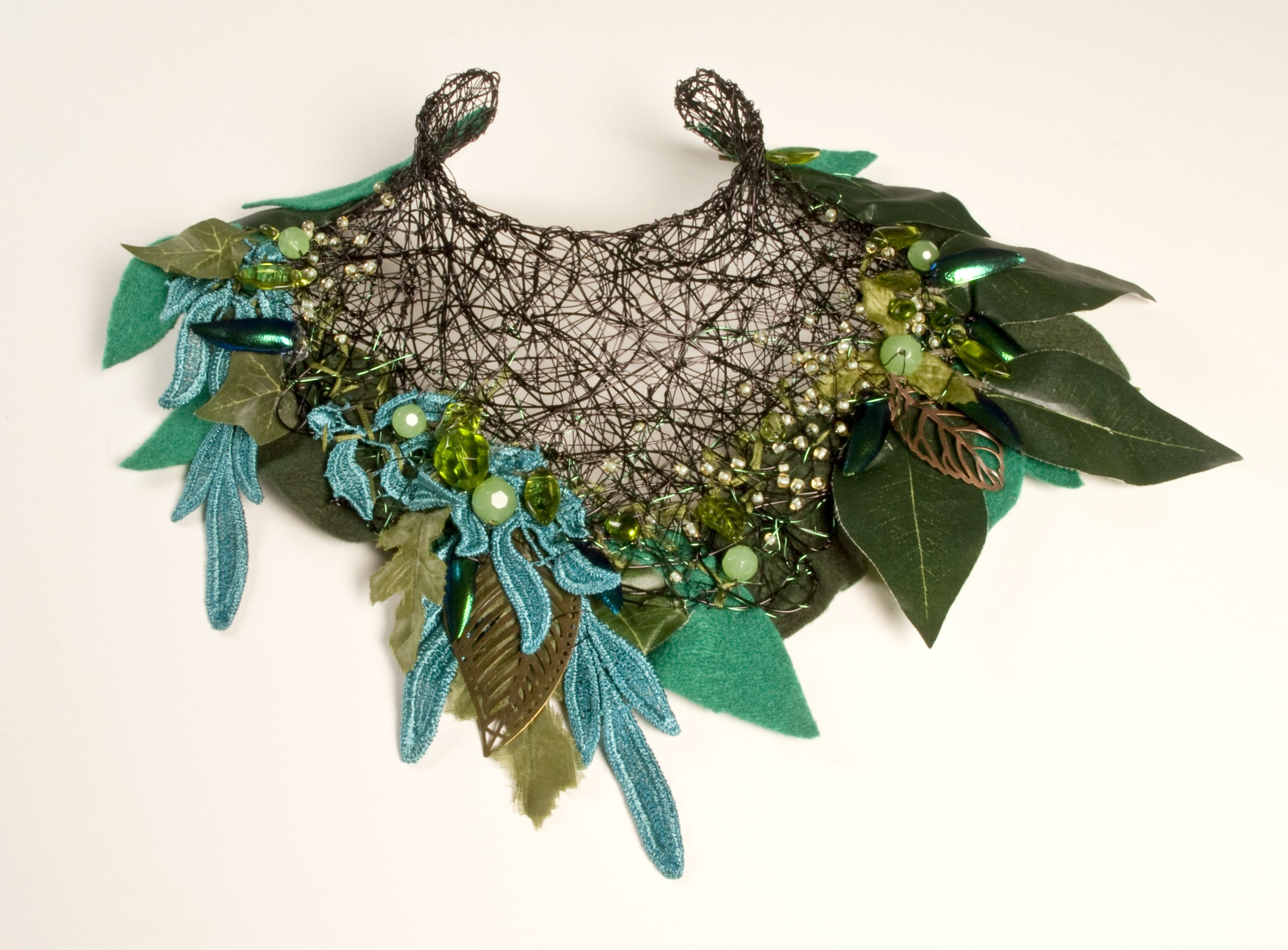 Part of my Halloween costume wire jewelry by Tavia Sanza nature theme Persephone