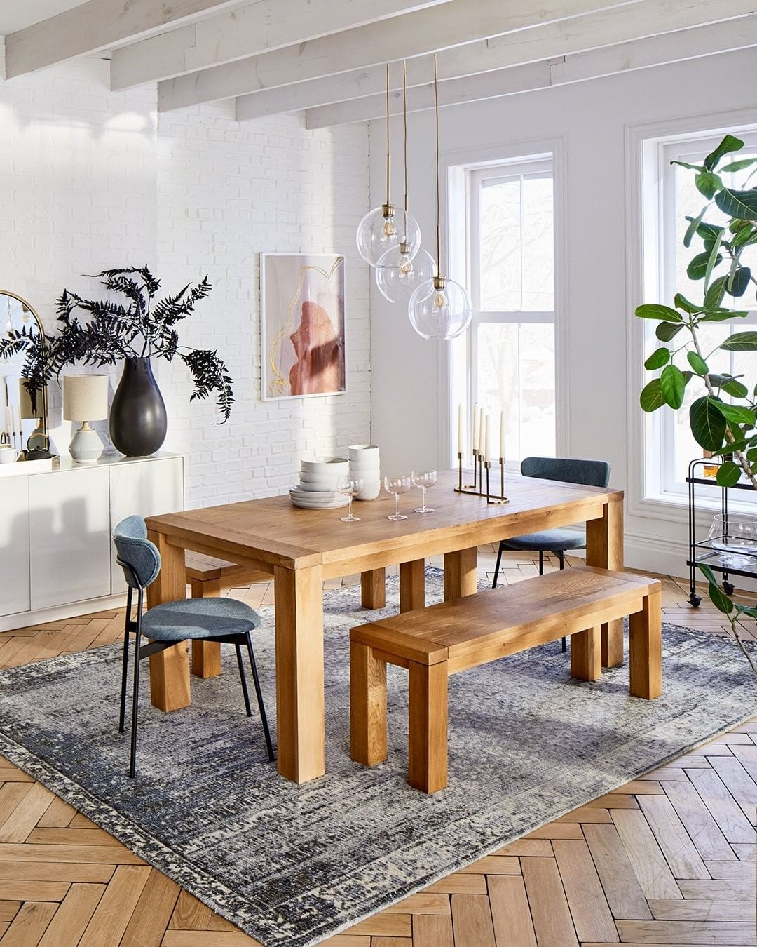 West Elm Furniture Decor On Instagram The New Tahoe Dining Table Is A Natural Beauty Made From Su Oak Dining Table Dining Table Solid Wood Dining Table