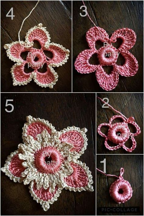 Best 12 flower pattern FREE…♥ Deniz ♥ – Page 386183736795018307 – SkillOfKing.Com #irishcrochetflowers