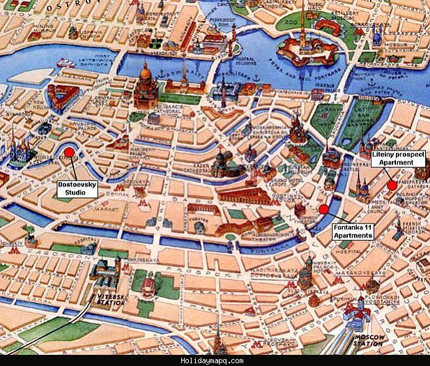 awesome St Petersburg Map Tourist Attractions Holidaymapq