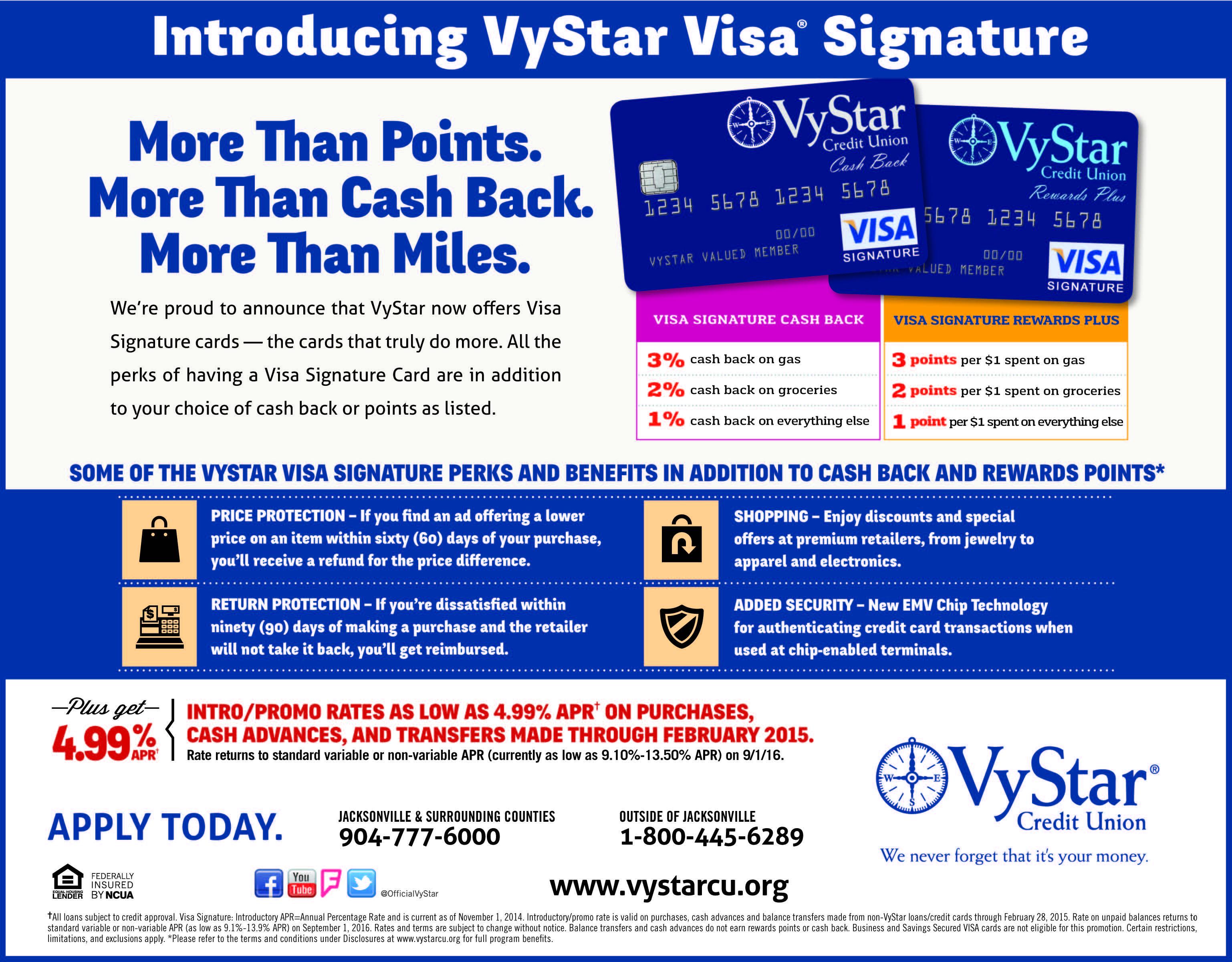 Vystar Credit Union Www Vystarcu Org Visa Rewards How To Plan
