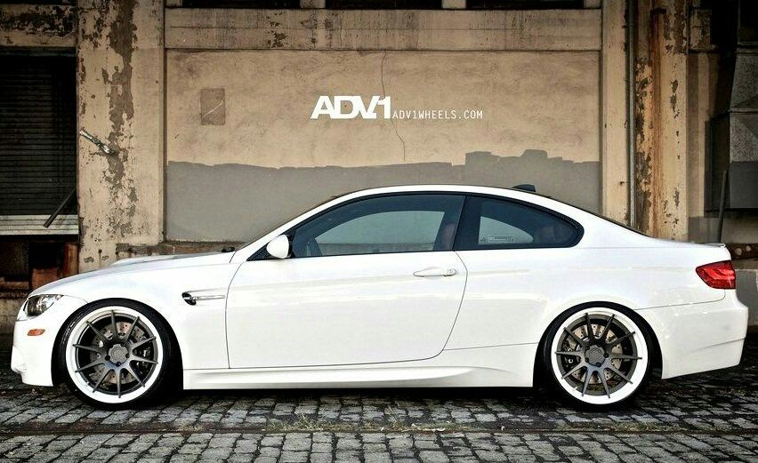 Bmw E92 M3 White On Adv 1 Wheels With Images Bmw Cars Bmw Bmw S