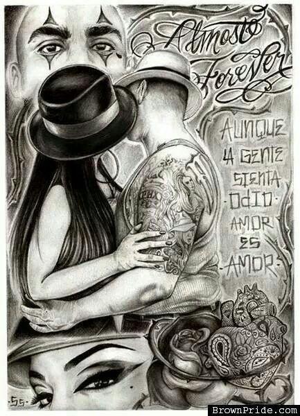 Amor Es Amor Tattoo Pinterest Chicano Art Lowrider Art And