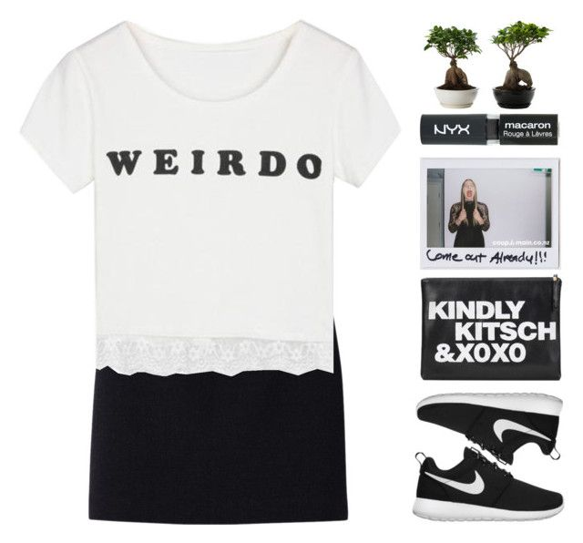 """""""Untitled #1770"""" by tacoxcat ❤ liked on Polyvore featuring Uniqlo, NIKE and Topshop"""
