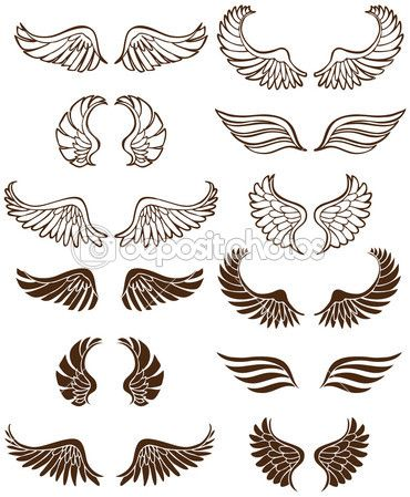 Dessin Ange De Dos ailes d'ange — illustration #4009961 | tatouage | tatouage ailes