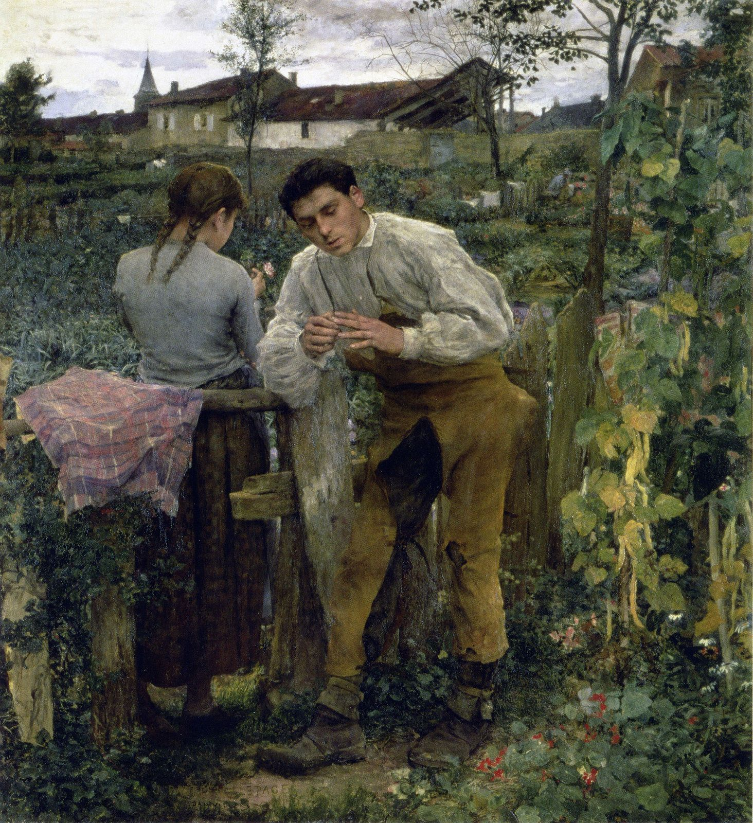 Jules Bastien-Lepage - Rural Love [1883] | Flickr - Photo Sharing!