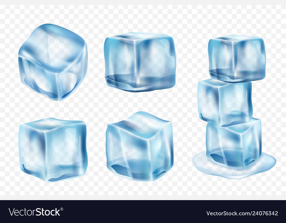 Ice Cubes Freeze Water With Light Reflection And Vector Image On Vectorstock Light Reflection Colorful Frames Geometric Background