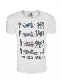 MedaIgual camiseta motos | blanca