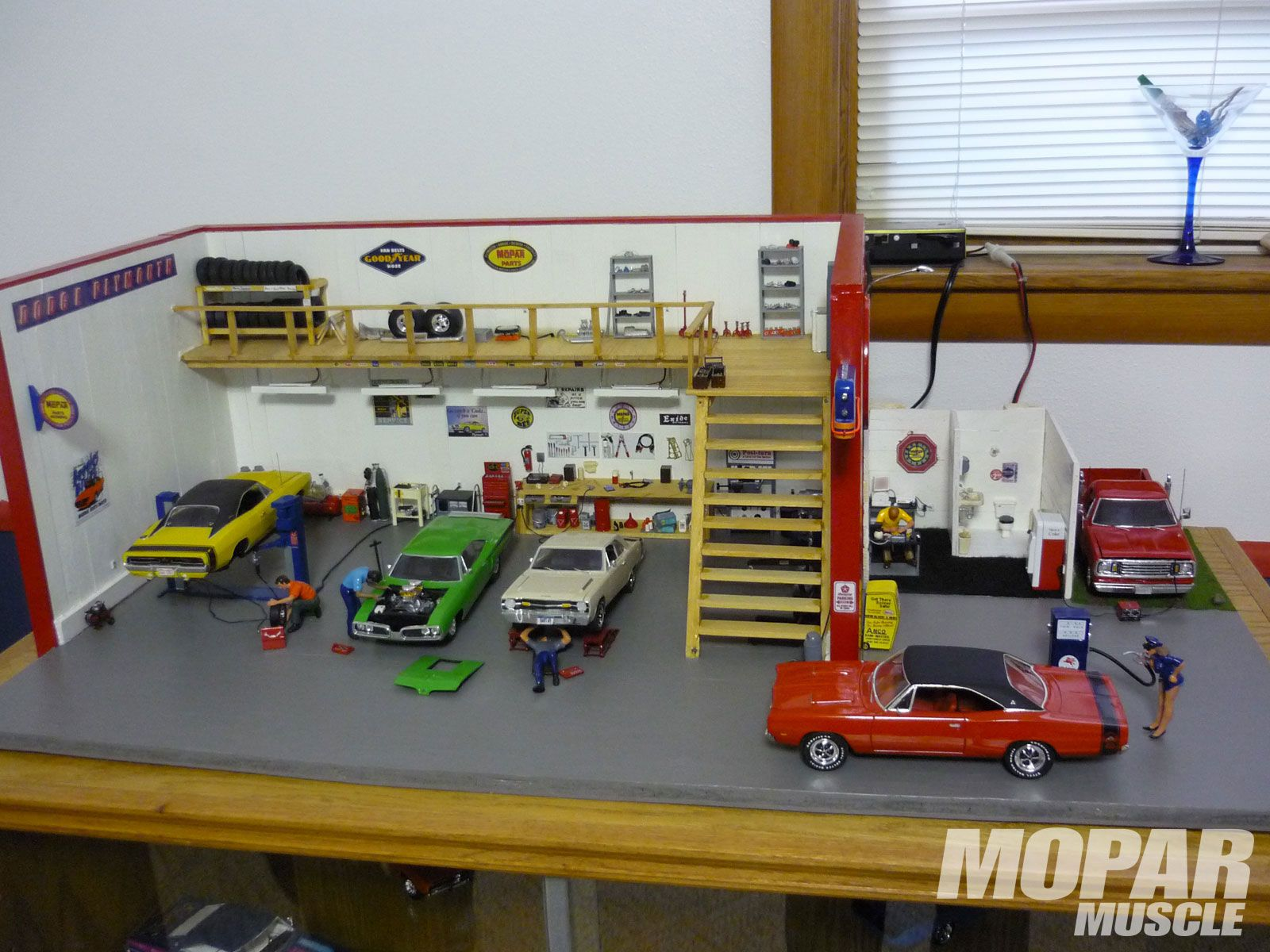 Barry Kroh Of Bismark North Dakota Built Most Of This Small Scale Mopar Diorama When He Was 15 Years Old See The Finished Results And Mopar Diorama Car Model