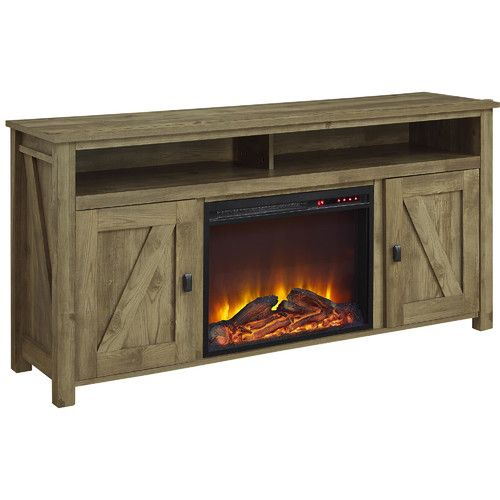 Found It At Joss Main Elise Media Console With Electric Fireplace Electric Fireplace Tv Stand Electric Fireplace Fireplace Tv