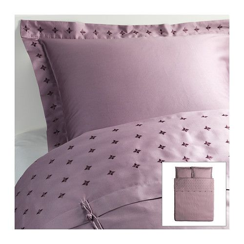 IKEA - VINRANKA, Duvet cover and pillowsham(s), Full/Queen (Double/Queen) ,  Sateen-woven bed linen in cotton is very soft and