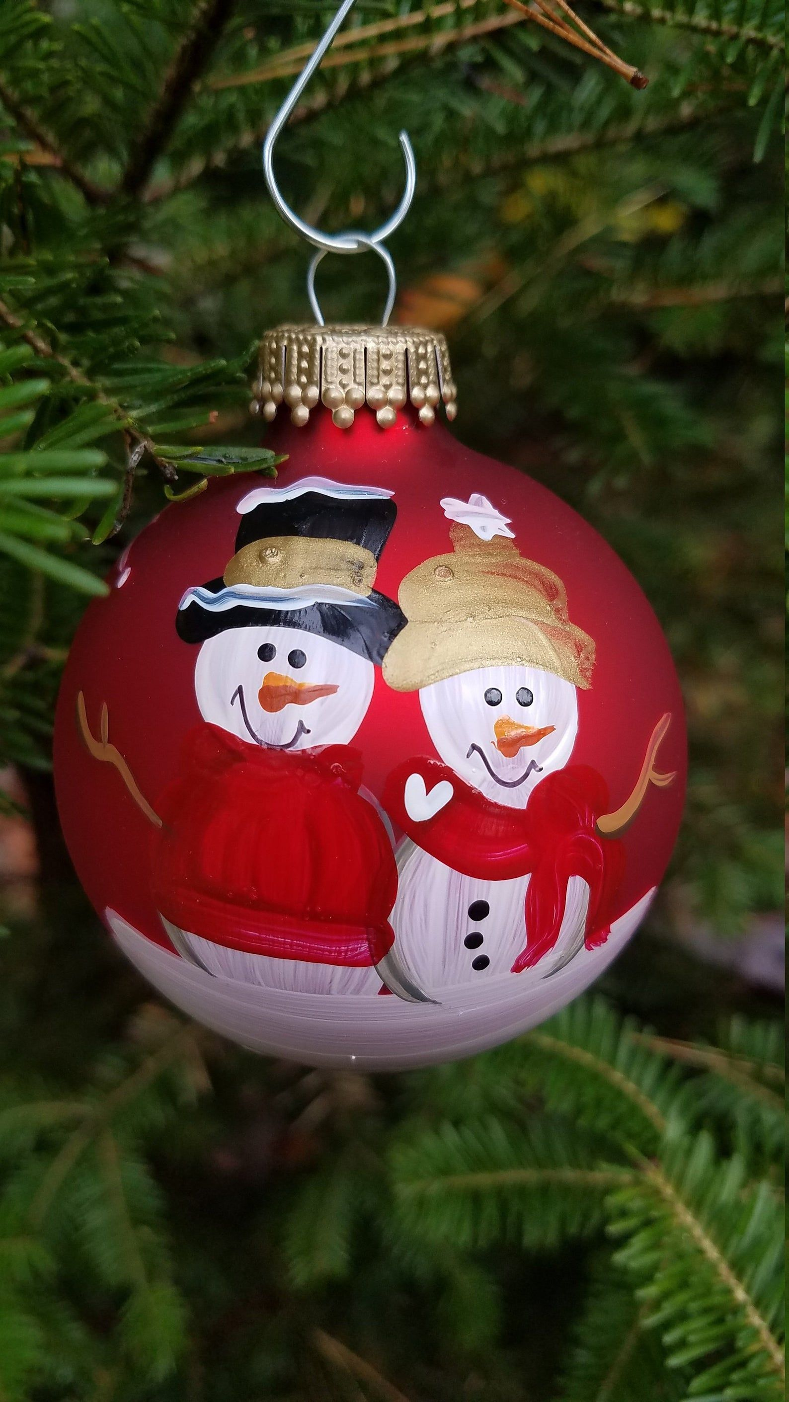 Snowman Grandparent Grammy And Grampa Personalized Christmas Etsy Christmas Ornaments Handpainted Christmas Ornaments Painted Christmas Ornaments