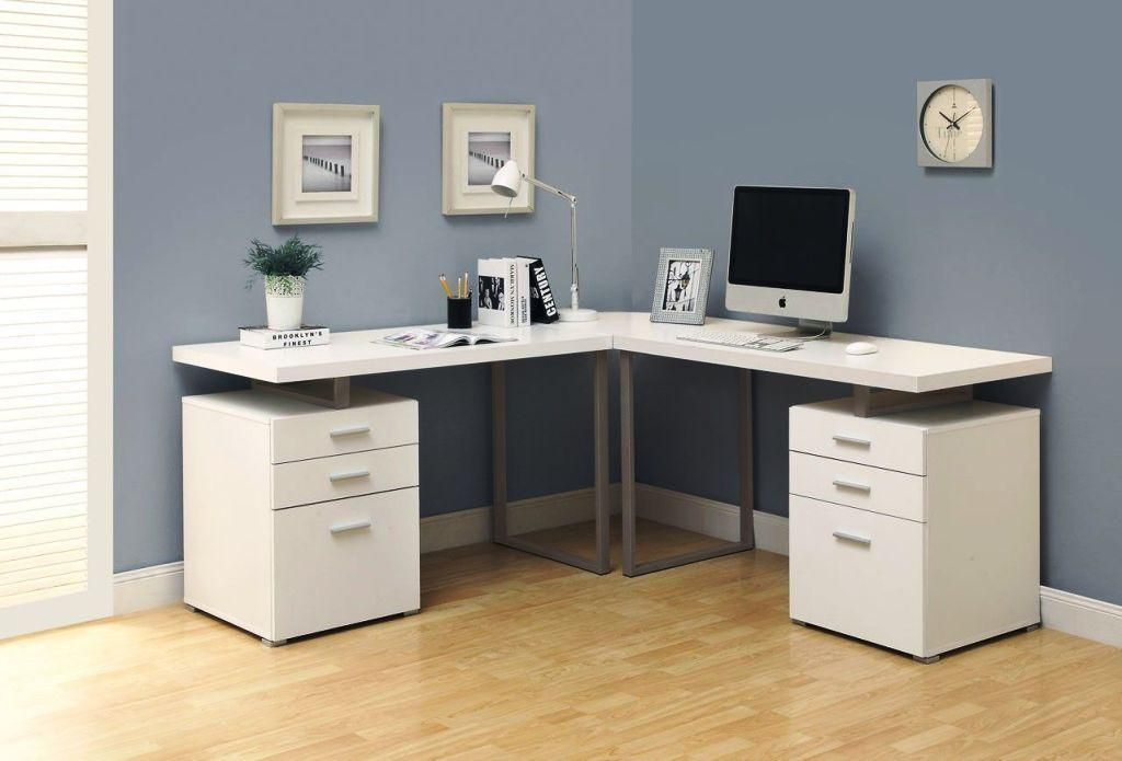 L Shaped Desk Ikea Hack White Corner Desk Home Office Design