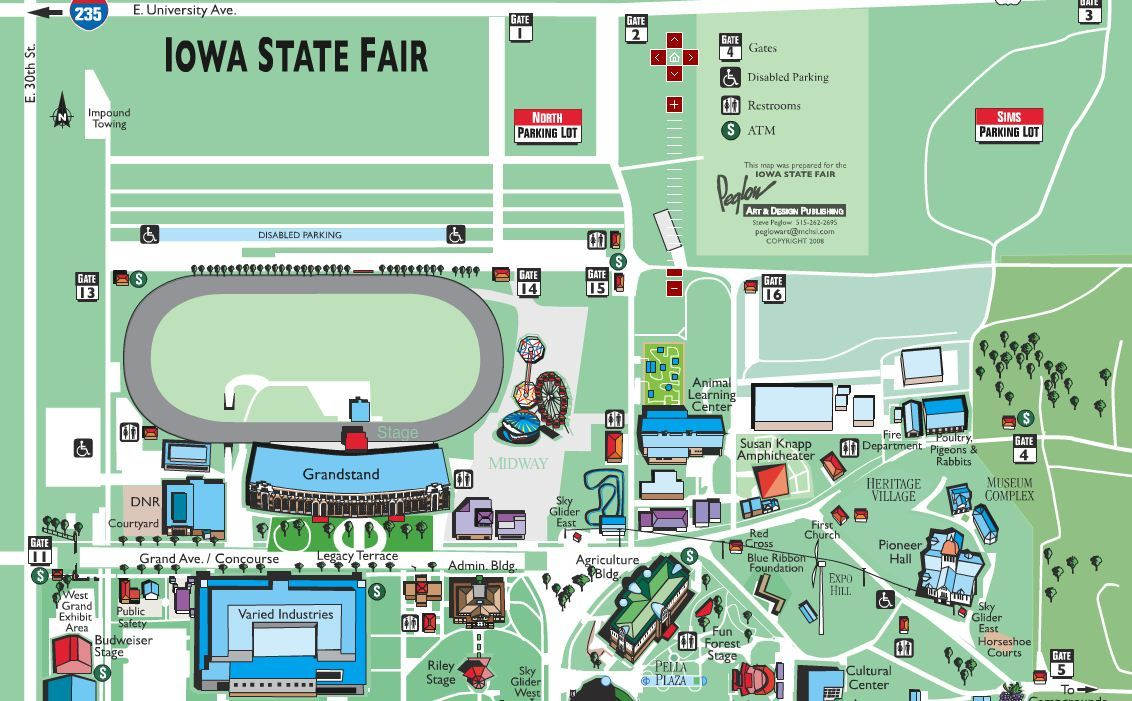 Map Iowa State Fair With Images Iowa State Fair