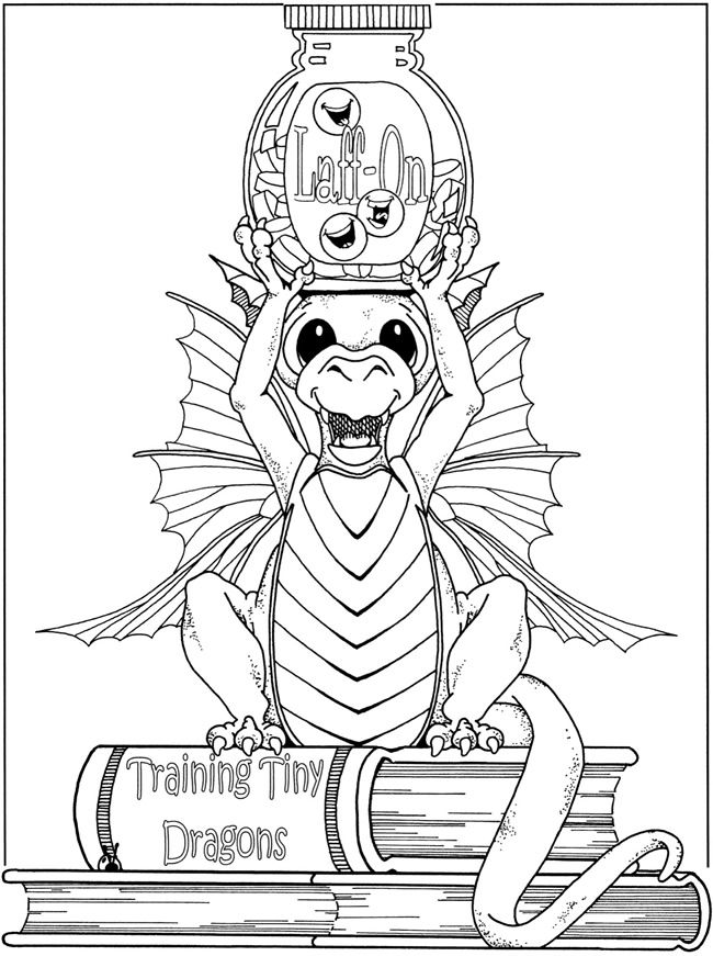 Fanciful fairies and dazzling dragons coloring book dover for Dragon and fairy coloring pages