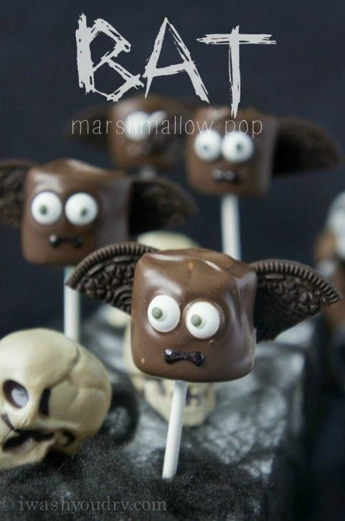 Halloween Marshmallow Pops - Partyplanung -
