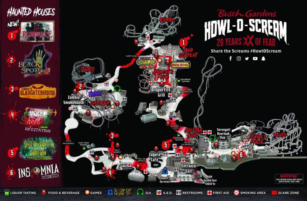 Busch Gardens Tampa Howl O Scream Ticket Prices
