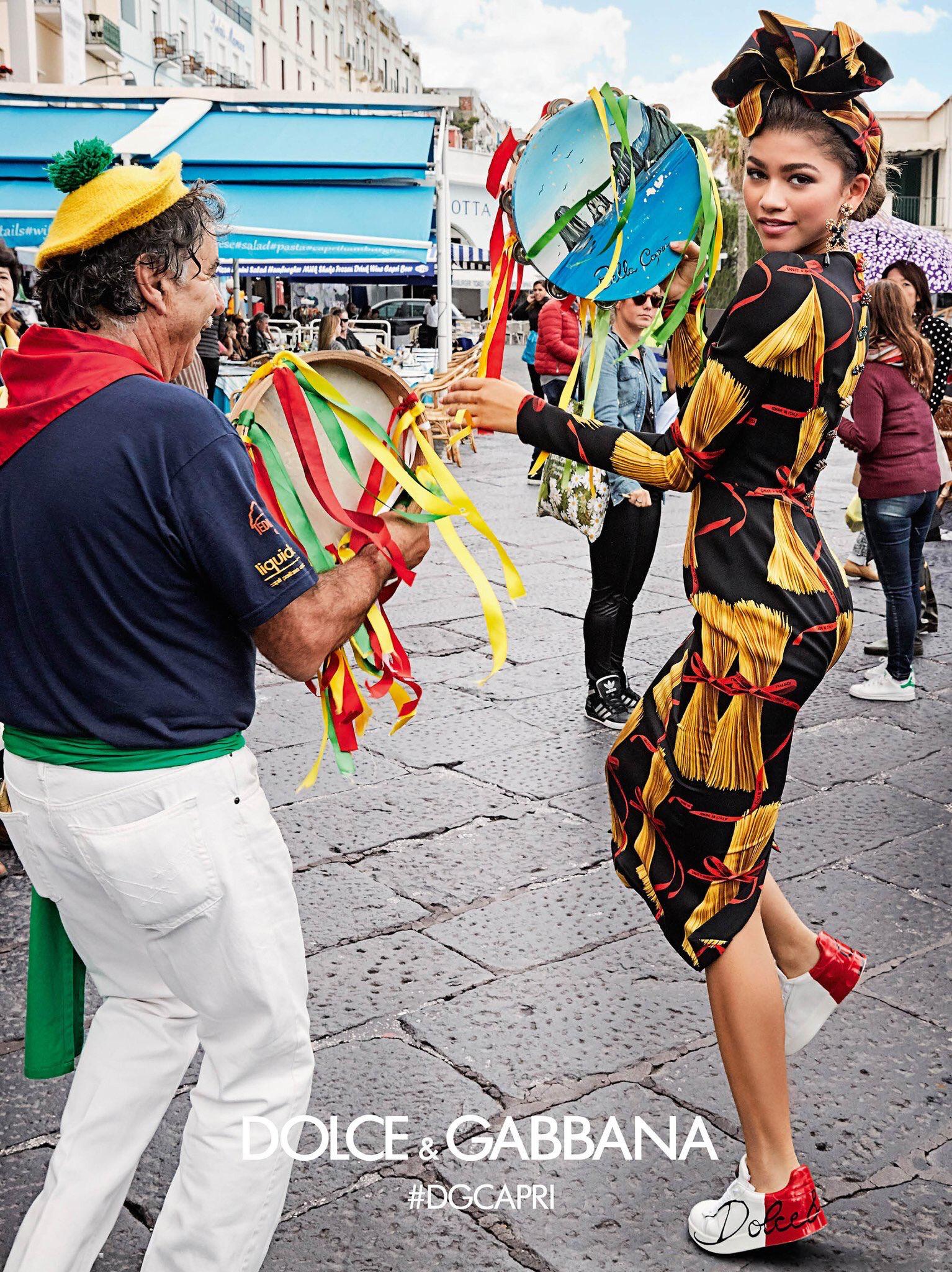 Zendaya in the  DolceGabbana Capri Ad Campaign  DGCapri  4ede432a29