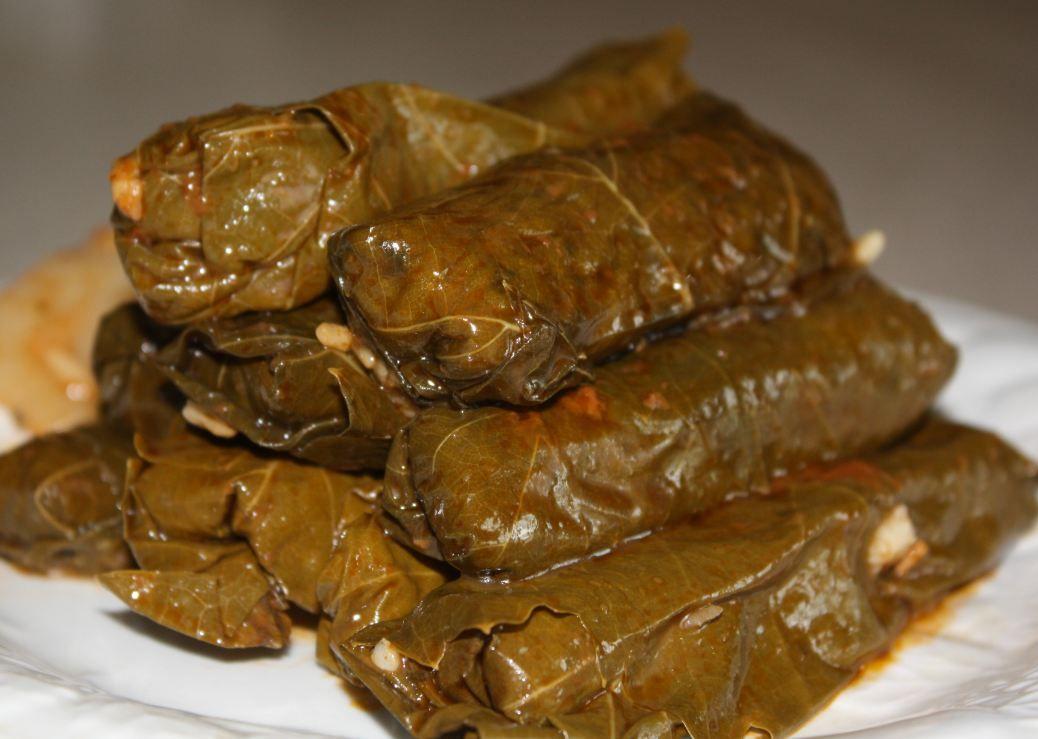 Stuffed Grape Leaves ورق عنب محشي Stuffed Grape Leaves Grape Leaves Recipe Middle Eastern Food Desserts
