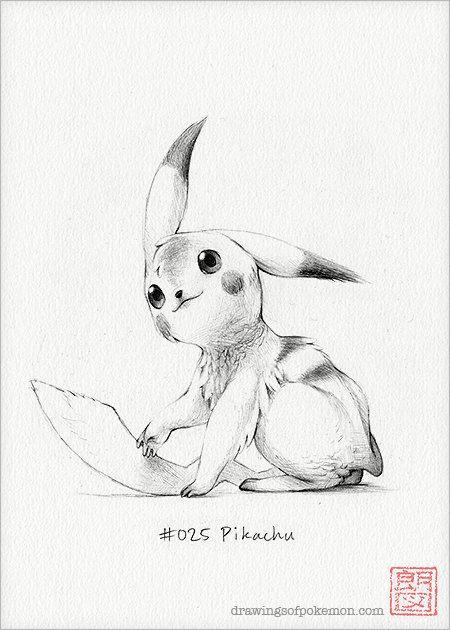 Pikachu 5 X 7 Print Pokemon Drawing Art Artwork Gaming