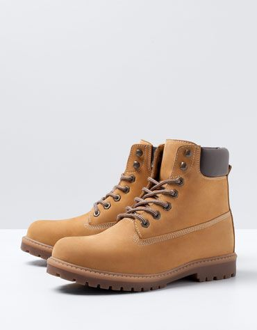 Bershka Egypt - Leather Mountain Boots