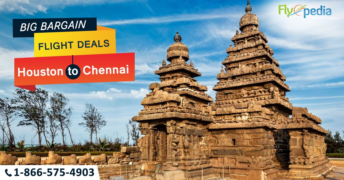 Find #Houston to #Chennai cheap airline tickets & deals and save big on your next trip with Flyopedia! Hurry! Book Now!  For more information call us at- 1-866-575-4903 (Toll-Free).  #HoustontoChennai #CheapFlightsToIndia #TravelDeals #CheapAirfare #CheapAirticket #Travel #Tourism #Cheaptravel #bookflightstoday