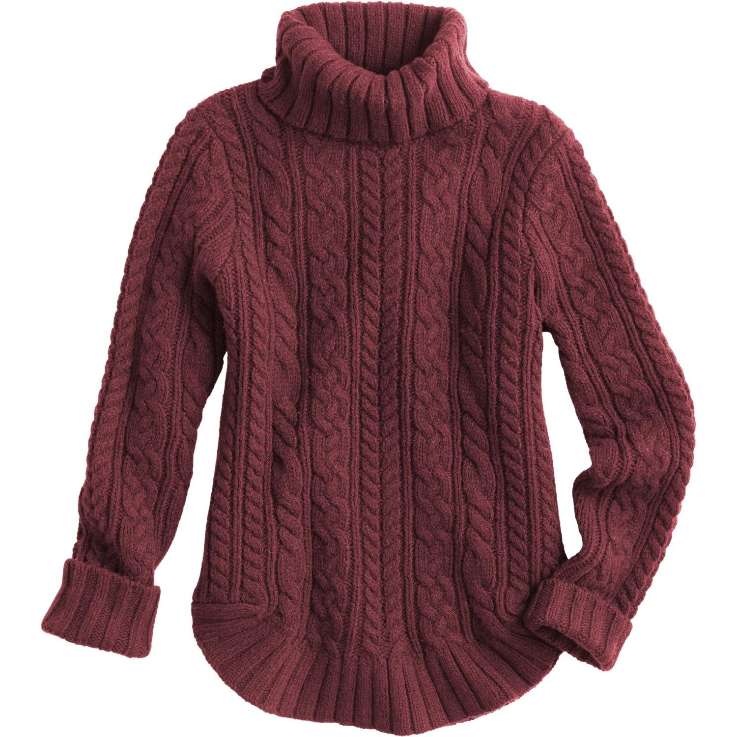 The women's Fisherman Turtleneck Sweater looks like a classic. But ...