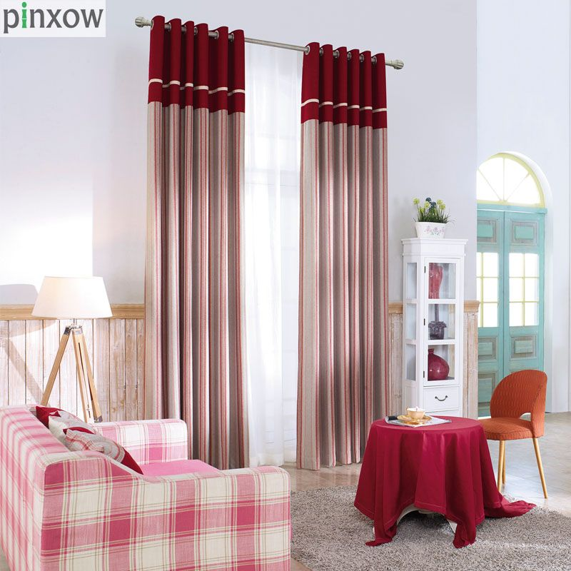Luxury Scotland Curtains For Living Room Red Thick Curtains For ...