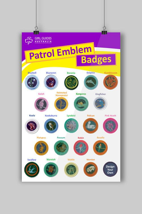 A3 Patrol Emblems Poster | Girl Guide Stationery | Poster