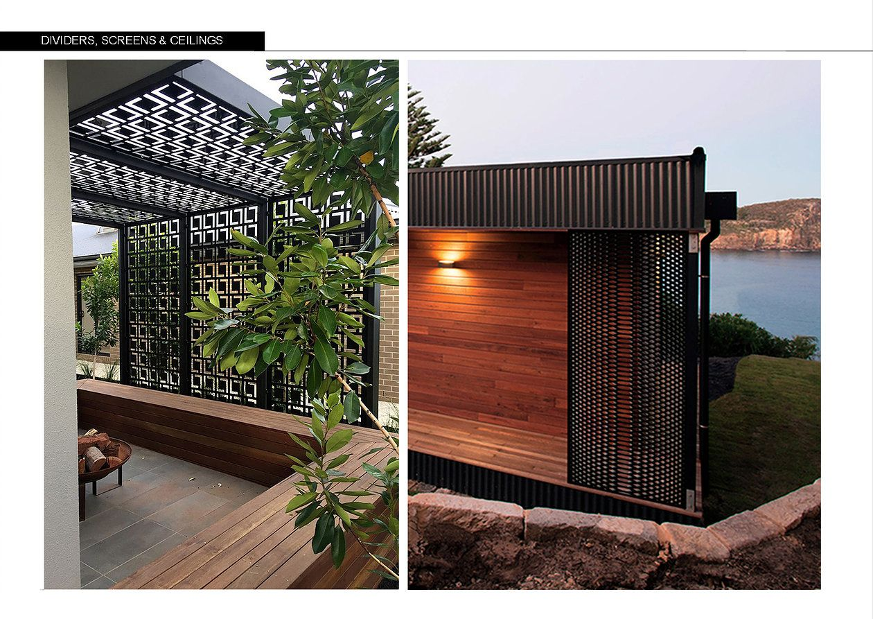 Outdoor lattice privacy screen wall partition design geylang