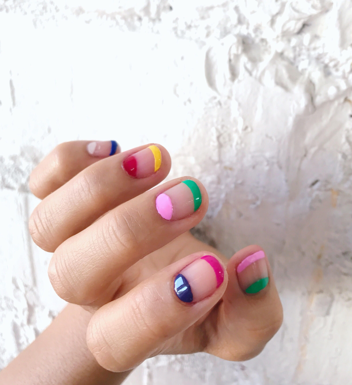 Video: DIY Rainbow Nail Art Tutorial