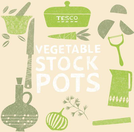 Veg-stock-pot Illustration By Debbie Powell