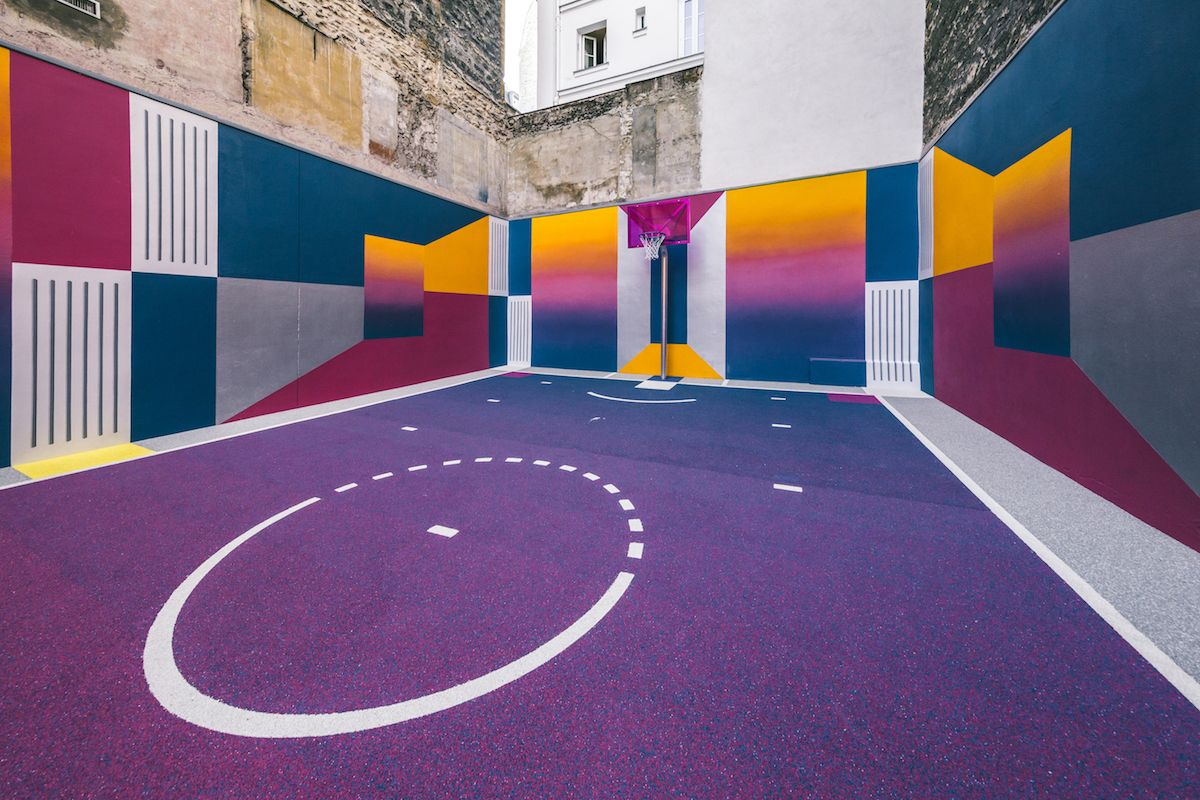 Cubo Abrumar túnel  New Basketball Court by Pigalle with Nike | Pigalle basketball, Basketball  court, Street basketball
