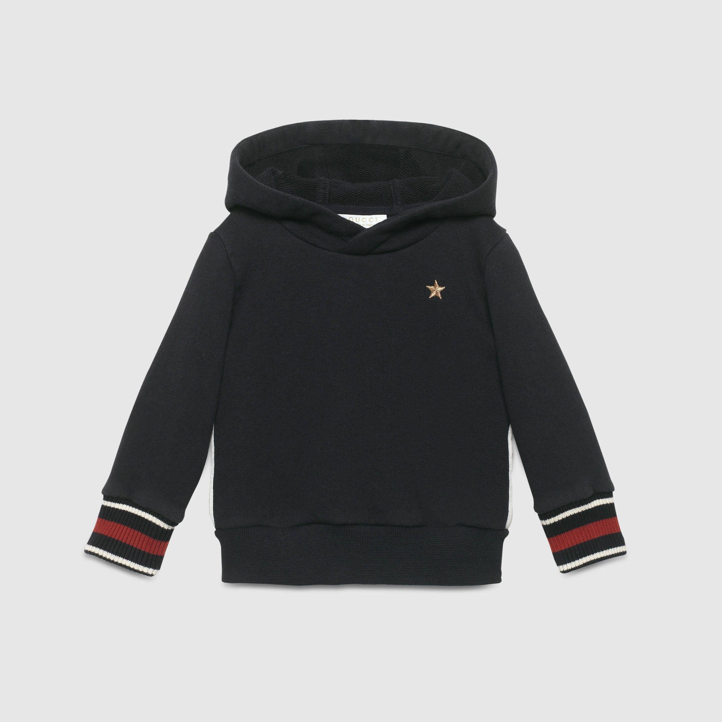 f2bb81f0 Gucci Children - Baby cotton sweatshirt with web | Kiddie closet ...