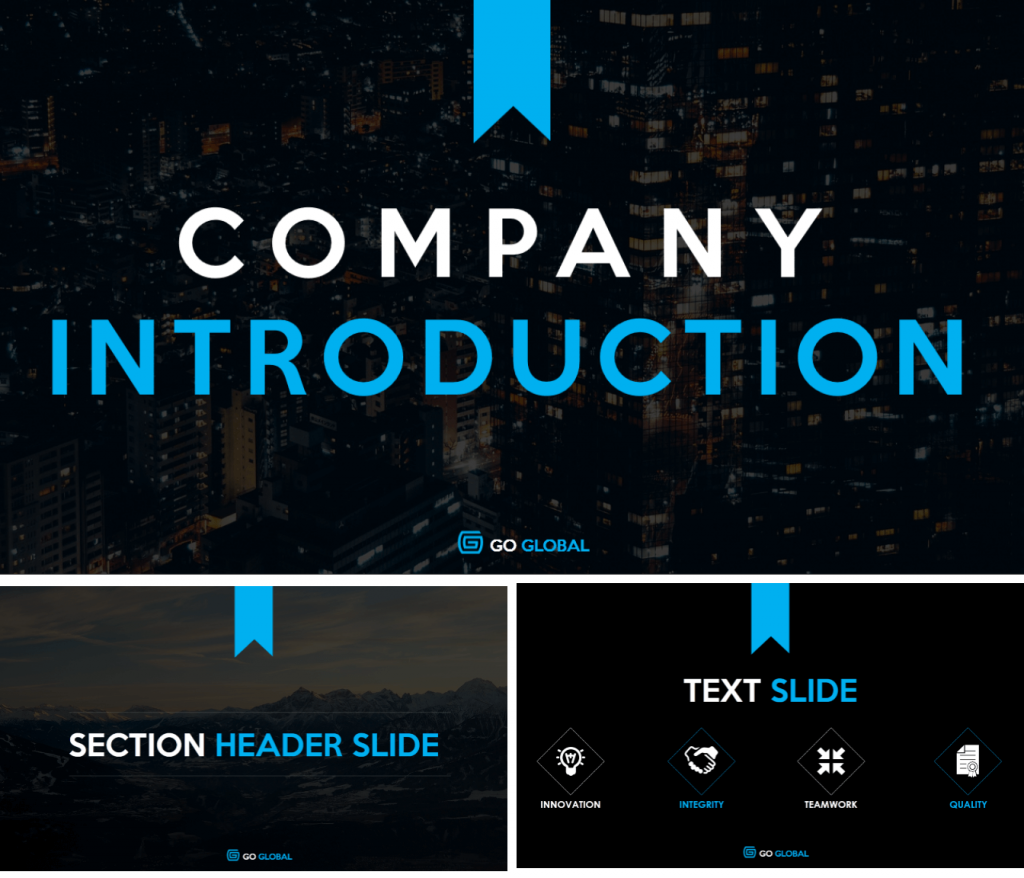 Company introduction powerpoint template wise quote pinterest company introduction powerpoint template toneelgroepblik Images