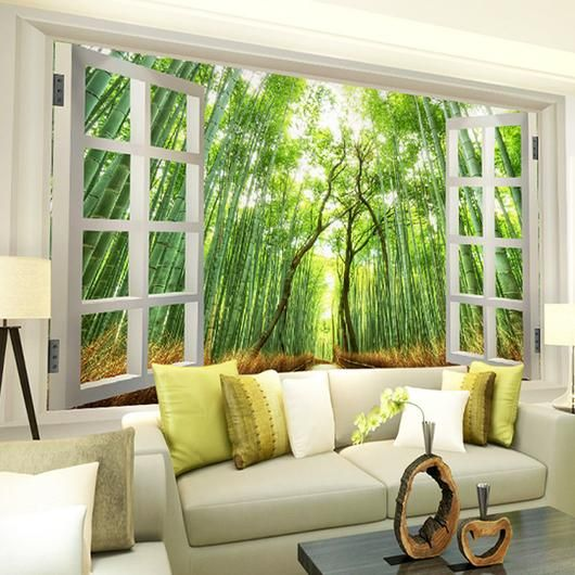 Shibataea Mural Wall Decor Forest Homes Nature Inspired Home