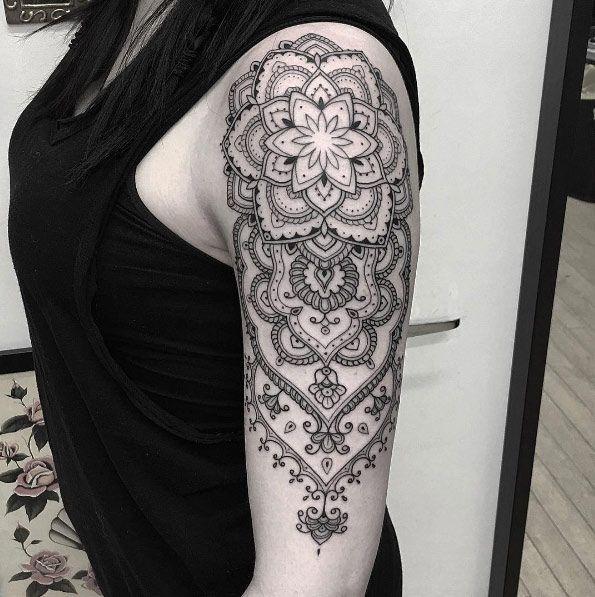 Ornamental Mandala Arm Piece By Barb Rebelo Sleeve Tattoos Tattoos For Women Mandala Tattoos For Women