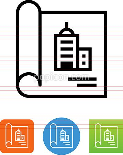 Blueprint with commercial building icon pinterest building blueprint with commercial building icon malvernweather Images