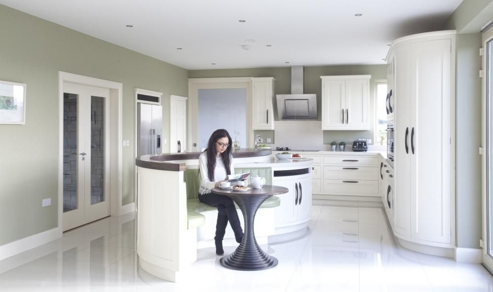Creative Wood Kitchen Design All Ireland Kitchen Guide Curved