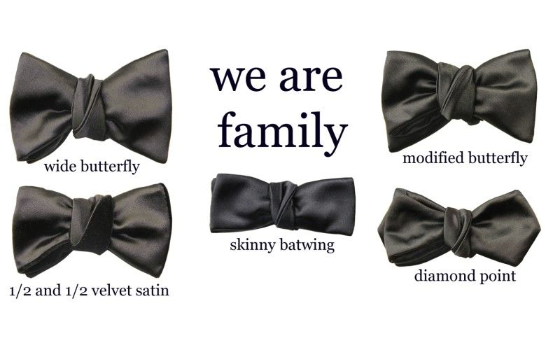 Bow tie isn't bow tie - the various types