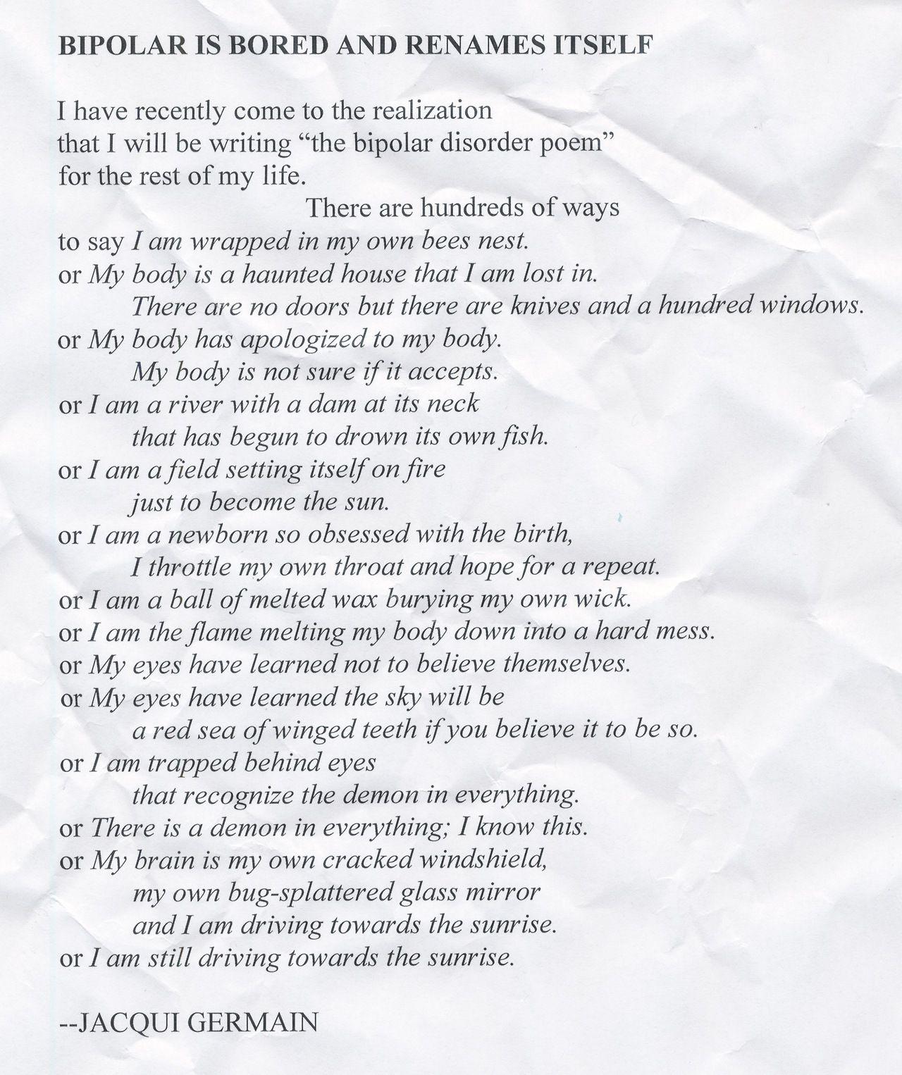 Bipolar Poems 5
