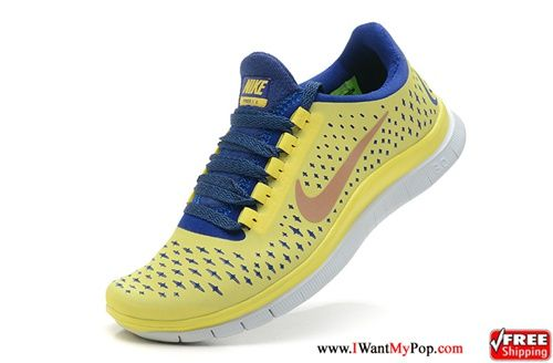 Nike 3.0 For Women Shoes For Running Lemon Yellow Blue