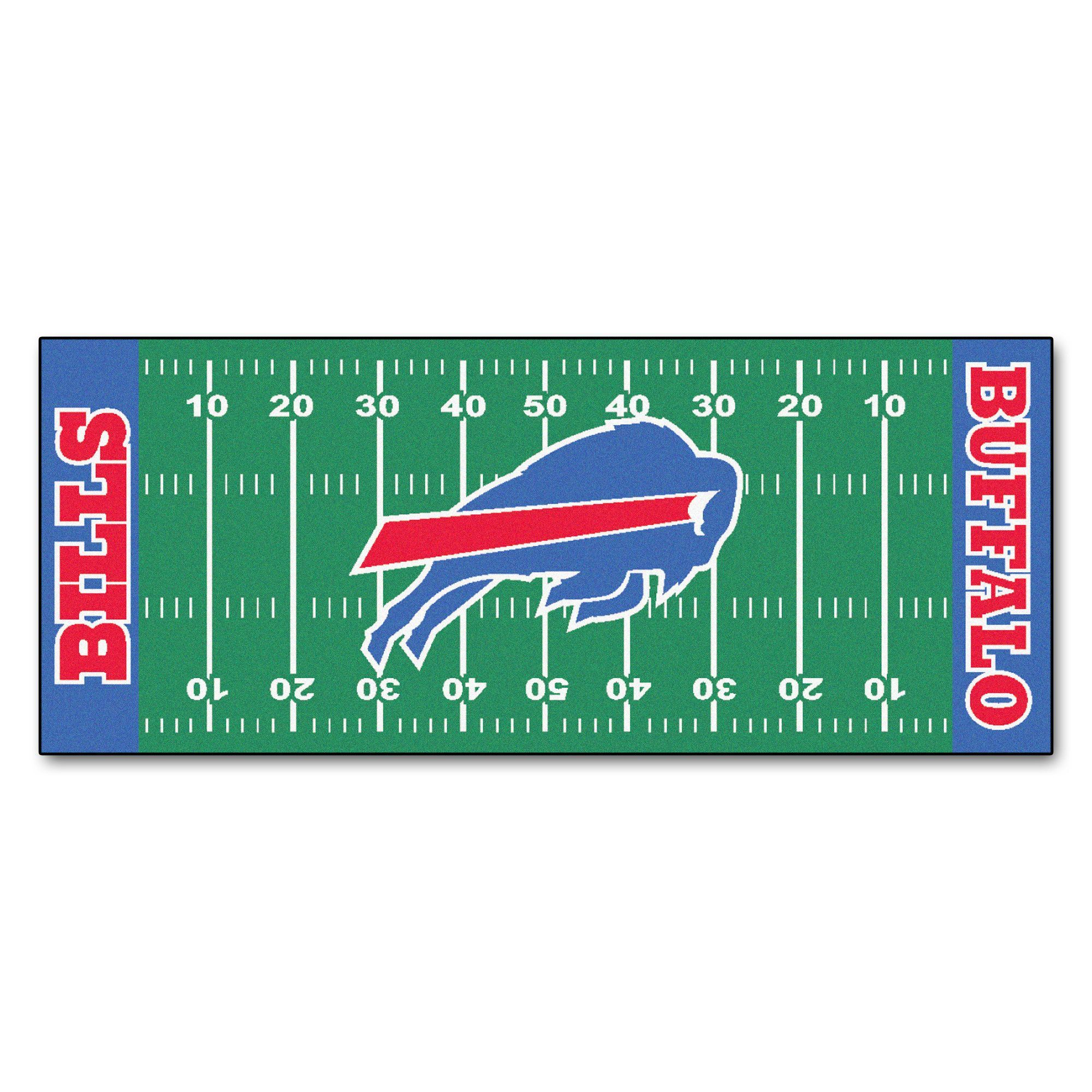 The Buffalo Bills Football Field Runner Area Rug