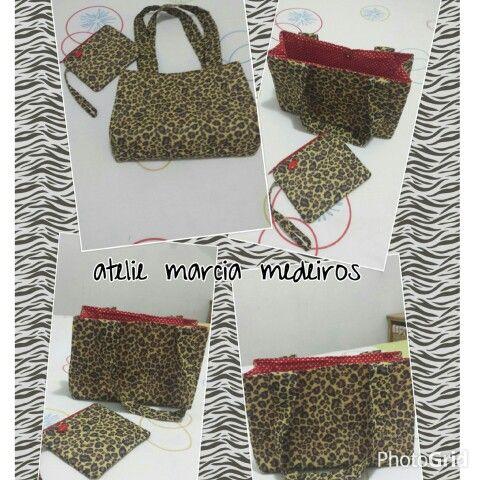 bolsa e carteira animal print