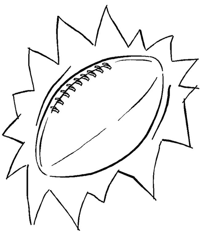 Ball Football Coloring Page | Kids Coloring Pages | Pinterest ...