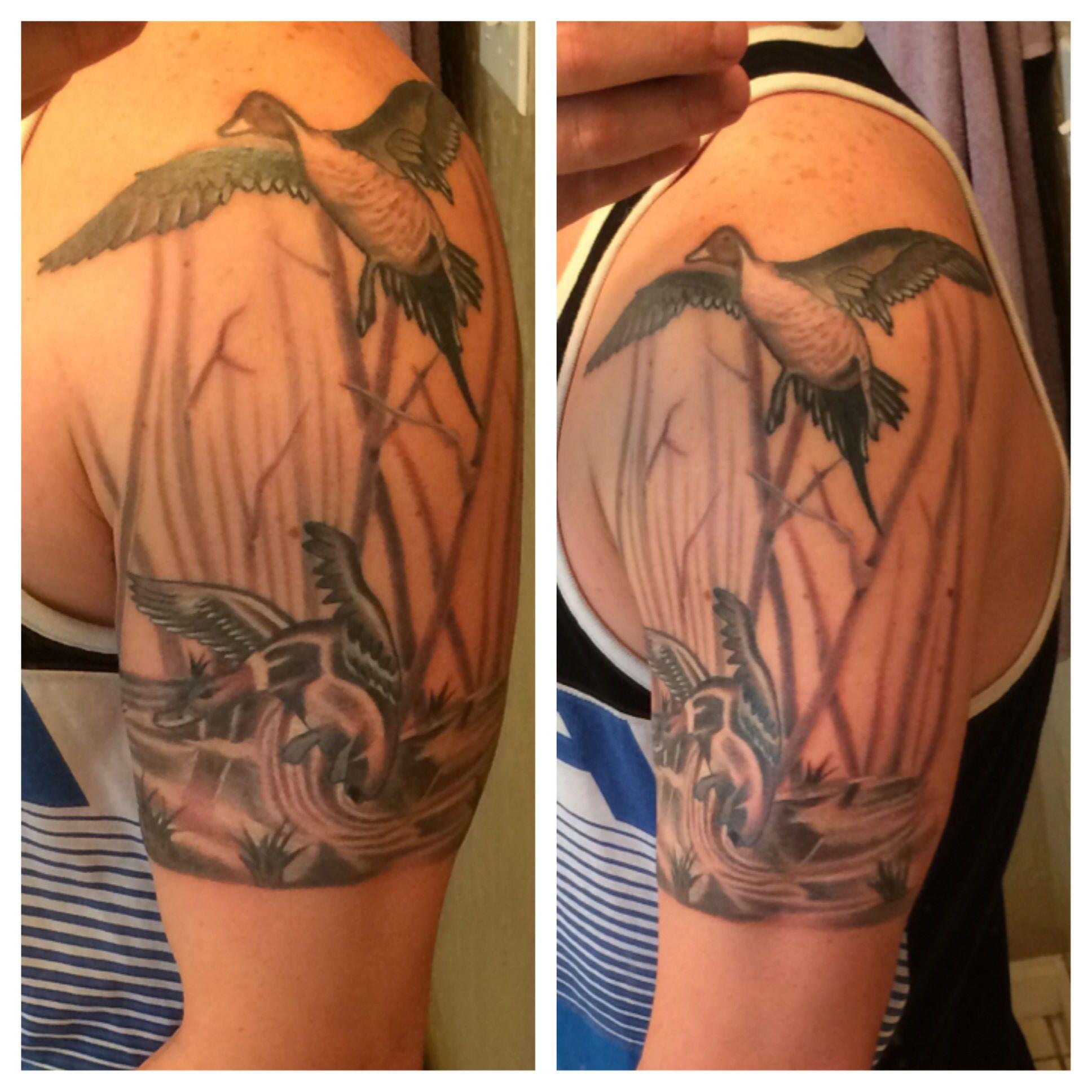 Waterfowl tattoo tattoos pinterest tattoo for Duck hunting tattoo