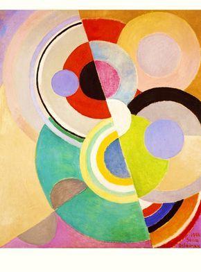 A la manière de Sonia Delaunay | Sonia delaunay, Peinture abstraite et Abstraction géométrique