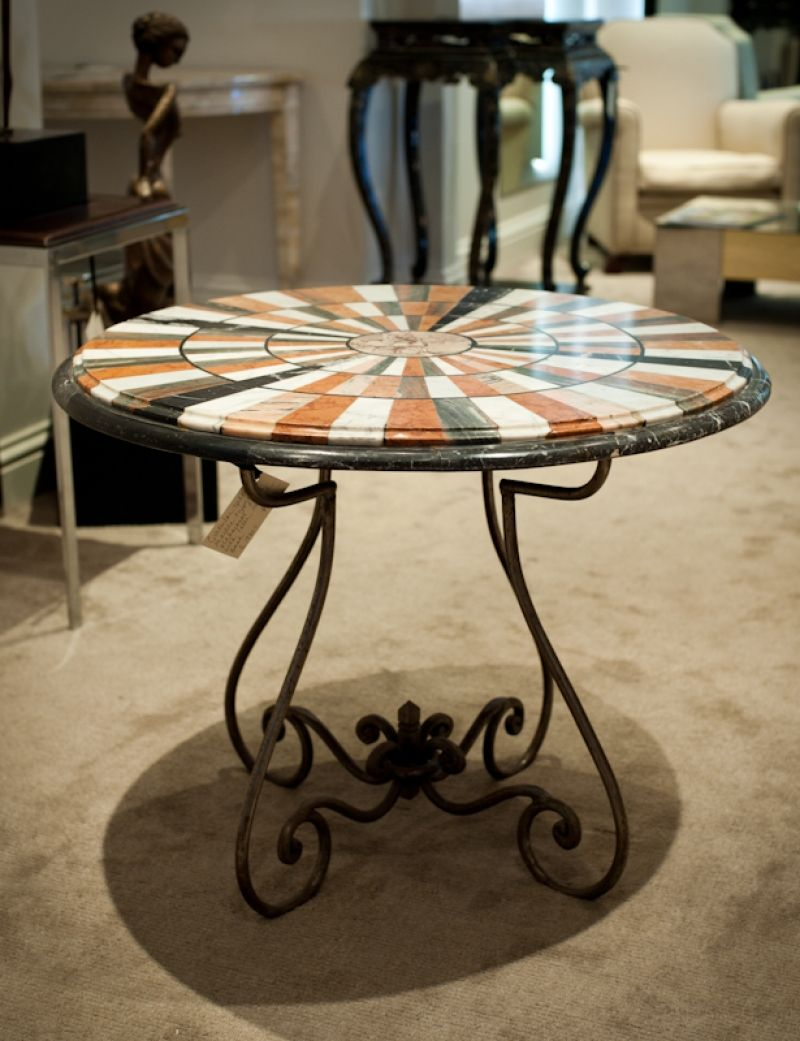 Superieur American Furniture 1920s | 1920u0027s Specimen Marble Table   Loveday Antiques